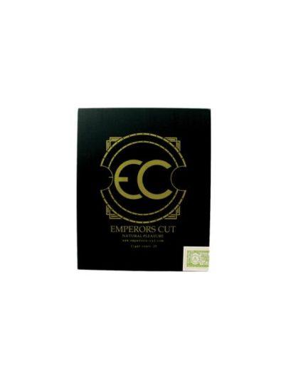 black square cigar box cover with Emperors Cut logo