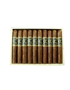 10 Grand Robusto cigars in a wooden box