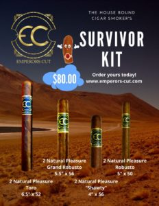 poster of 4 cigars the Toro, Grand Robusto, Shawty and the Robusto